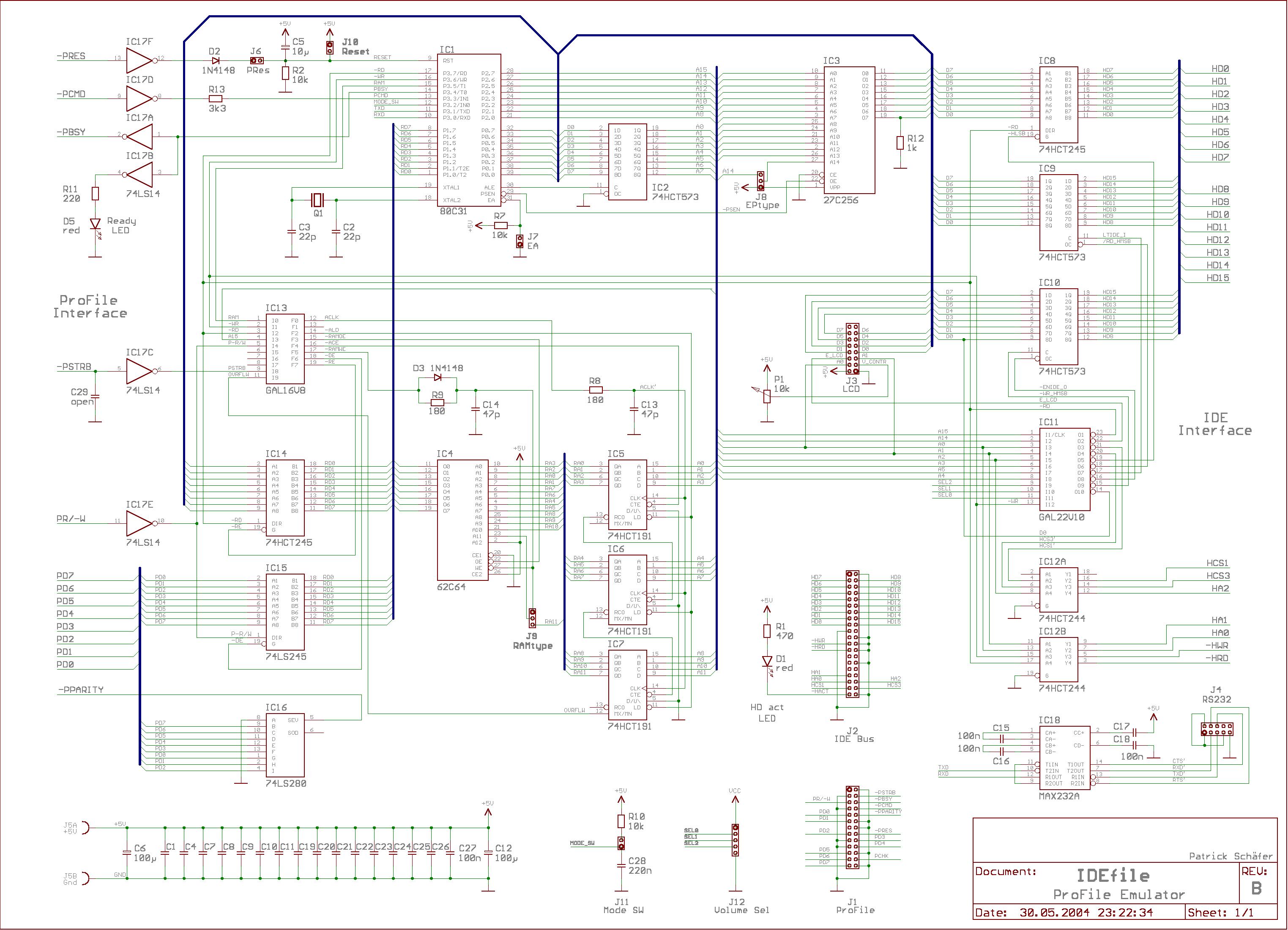 Idefile A Profile Emulator Apple 1 Circuit Diagram Schematic